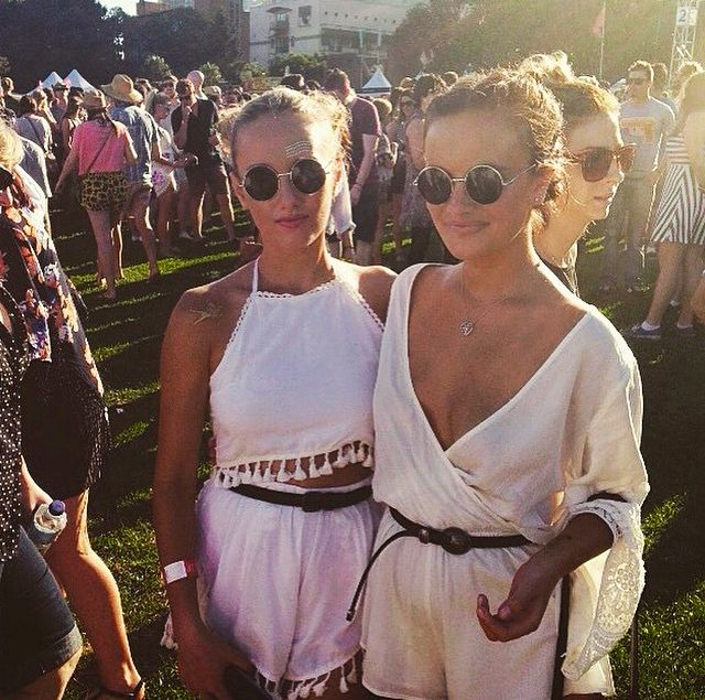 ☼ ☾both these outfits. White festival looks