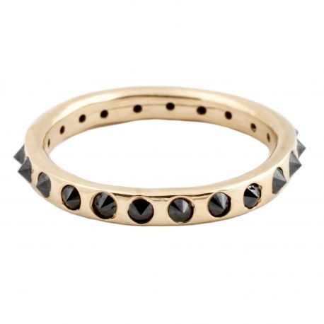 Point-Up Black Diamond Eternity Band by Lauren Wolf
