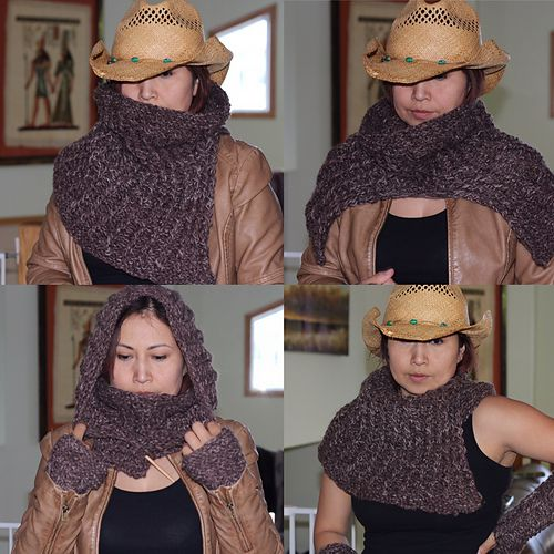 Ravelry: Ravager Cowl and Gauntlets pattern by Sharon Bond