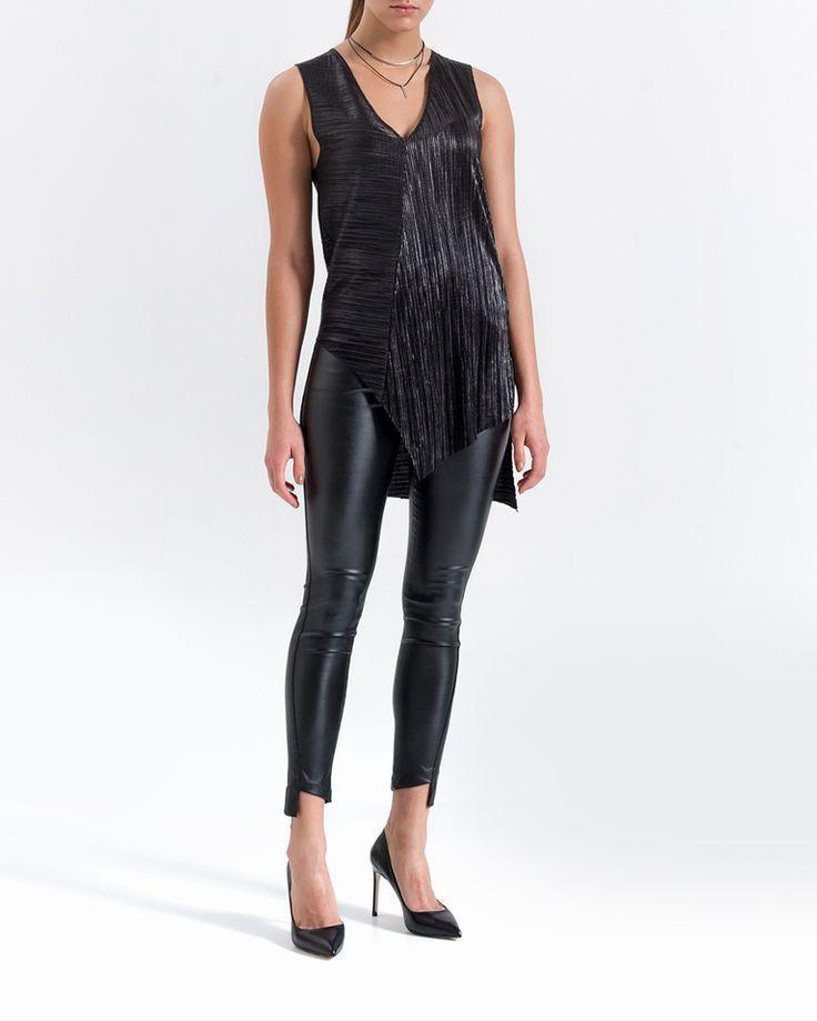 Bluzka   KOLEKCJA   -SPEKTROOM Tunika #lookbook #blouse #minimal #fashion #classy #jeans #black #look #ootd #elegant #casual