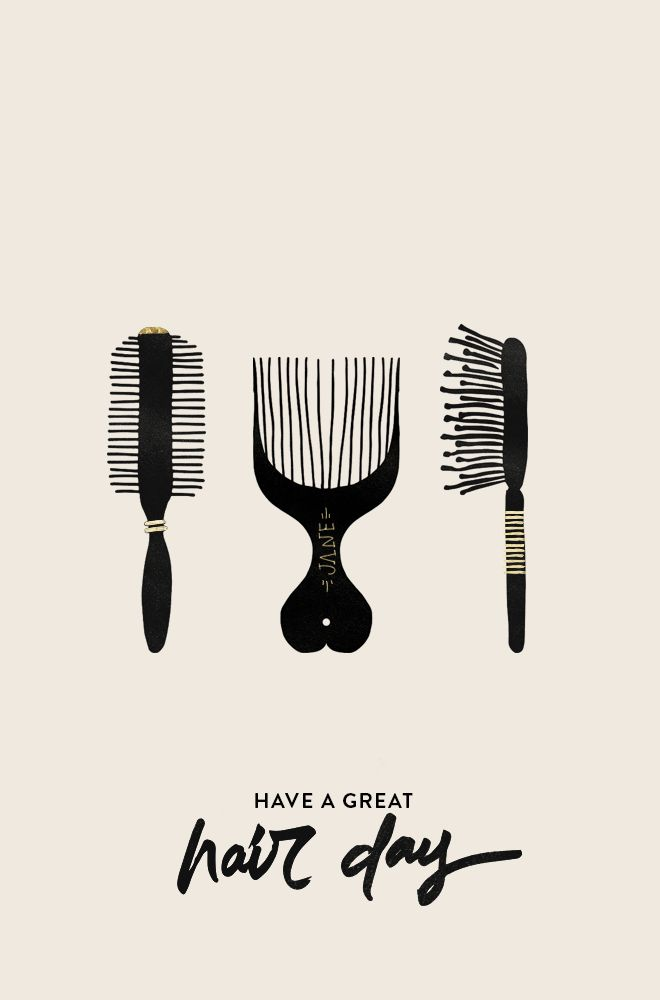 Have a Great Hair Day poster design.