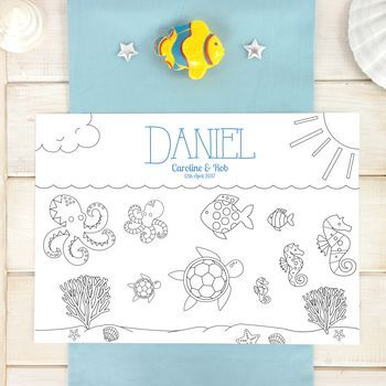 Under The Sea Personalised Party Colour In Place Mats