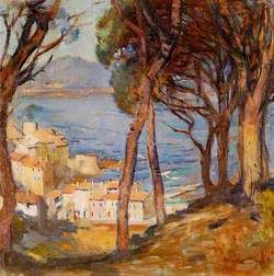 Sea View from a Hill, South of France