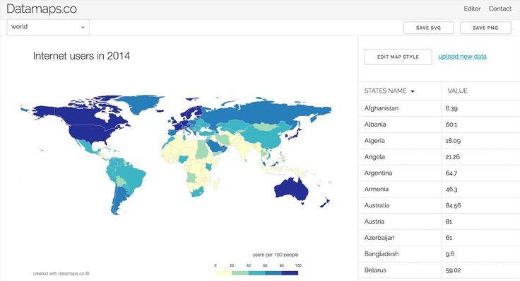 Загружаете данные в CSV или вбиваете руками прямо на сайте, настраиваете гамму и оформление, экспортируете в PNG или SVG. На данный момент есть такие шаблоны карт: Мир, США, Китай, Канада, Франция, Германия, Италия, Польша. Проекту меньше месяца, поэтому есть надежда на добавление новых карт и развитие инструмента в целом. DataMaps.co Подписывайтесь на «Дизайнерский дайджест». Это …