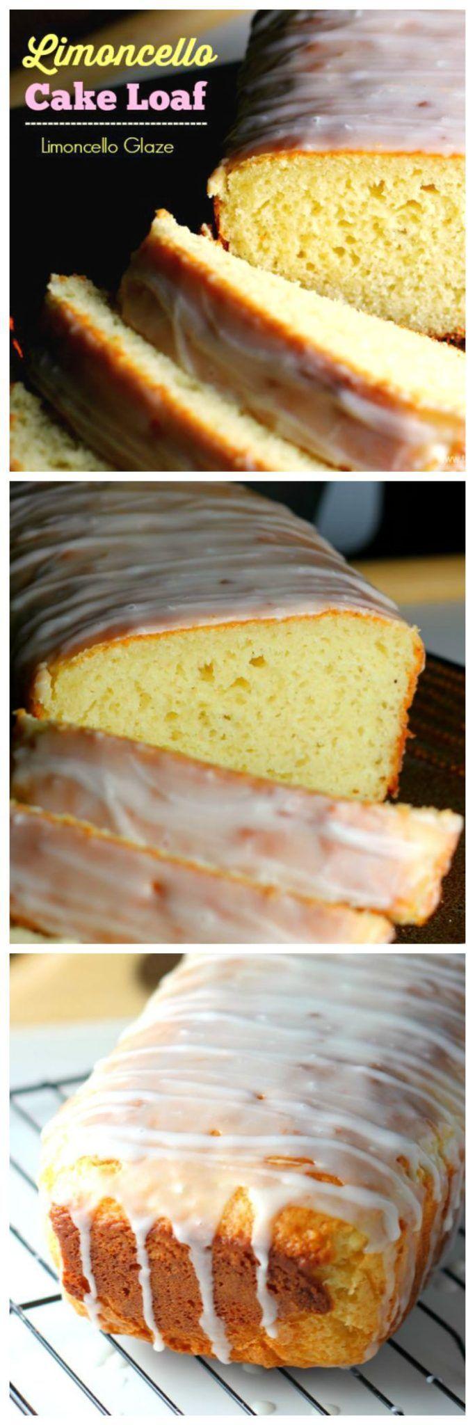Lemon Limoncello Cake Loaf via @https://www.pinterest.com/BaknChocolaTess/