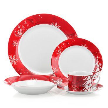 Mobexpert set vesela 20 piese alb Christmas tree