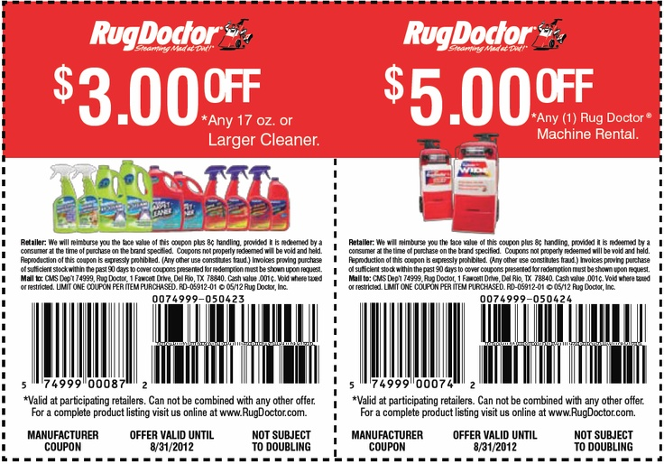 Rug Doctor 3 5 Off Printable Coupon Stuff To Buy