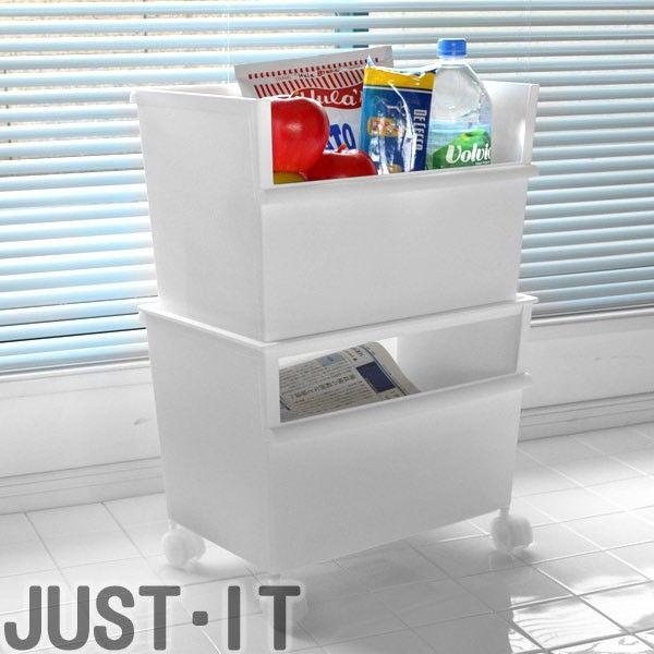 ゴチャゴチャしがちなおもちゃやごみ、キッチン用品などを細かく分類して収納できる収納ボックスの便利なセット組タイプです。子供部屋・リサイクルボックス・サニタリー・キッチンなどでお使い頂けます。新聞ストッカーやマガジンラックとしてもお使い頂…【商品詳細】 サイズ/約幅38.8×奥行26.8×高さ55.2cm 重量/約1600g (セット時) 内容量/コンテナーワイド(深):2個 コンテナーワイドフタ:1枚 キャスター:1セット 材質/本体・フタ:ポリプロピレン キャスター:ポリプロピレン・スチール カラー/ホワイト 生産国/日本製 備考/【耐荷重】ワイド深型・ワイドフタ:8kg キャスター:15kg ※キャスター使用時は、合計15kg以上載せないでください。【商品区分】[在庫商品][返品区分A]《スタッキング 積み重ね プラスチック カラーボックス対応 カラーボックス用 横置き インナーケース 小物収納 キャスター おしゃれ オシャレ シンプル 白 色 プラスチック製 コンテナ 収納BOX ワイド 深型 子ども部屋...