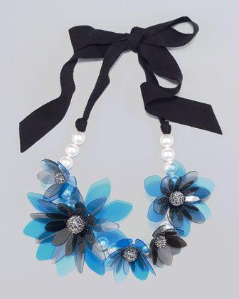 Lanvin Flower Choker Necklace