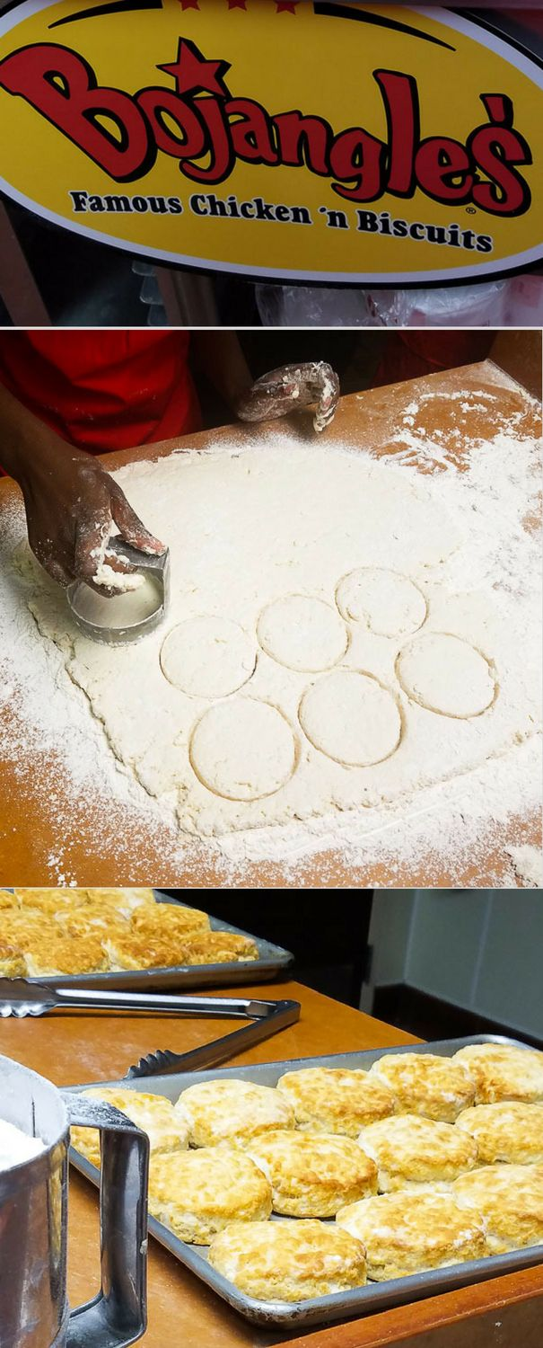 Learn some tips on how to make the perfect biscuit. Bojangles is known for their fluffy biscuits and now I know why. They are delicious.