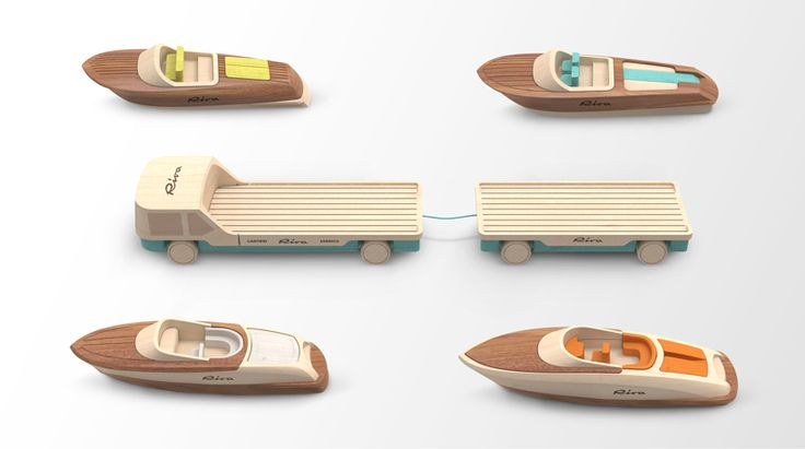 madeindreams designs miniature wooden toy boats for riva