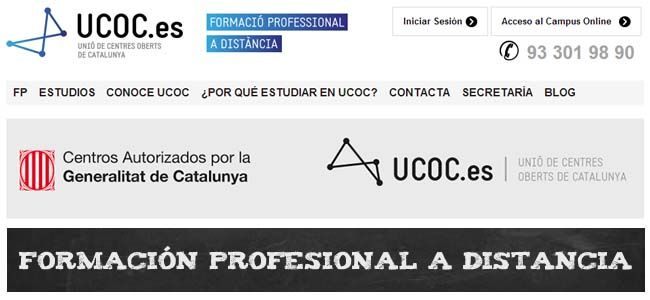 Formación profesional online con UCOC | http://formaciononline.eu/formacion-online-fp-ucoc/