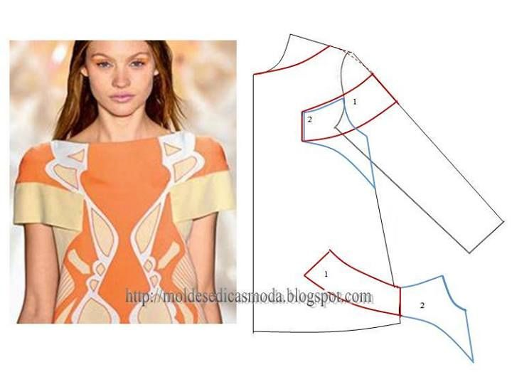 Drafting pattern for sleeve