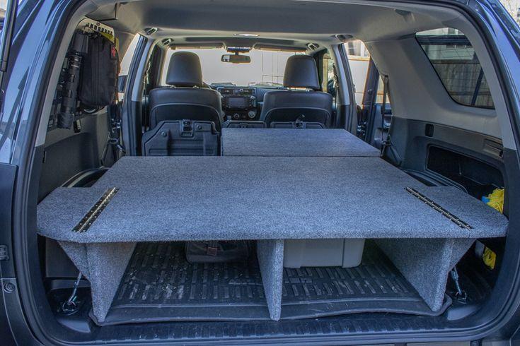 Diy Sleeping Platform Storage Divider Camp System For Toyota 4runner In 2021 4runner Suv Storage Car Tent
