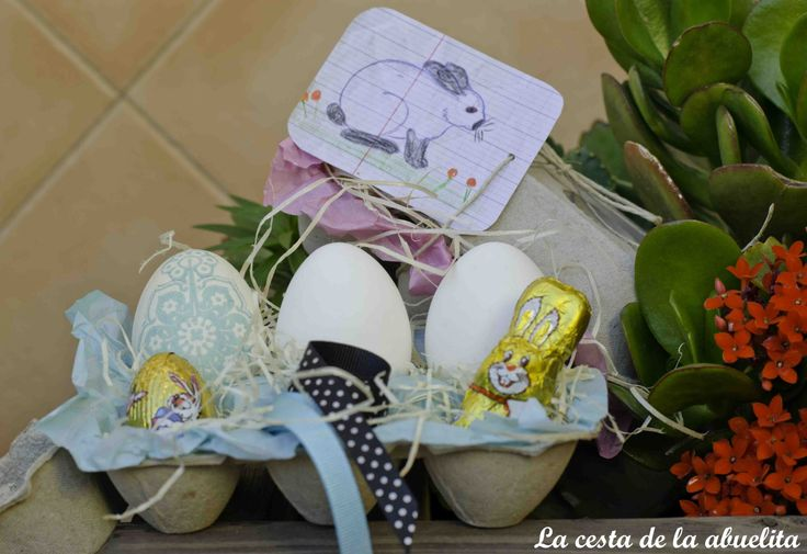 Kit de La Cesta de la Abuelita de decoración de Huevos de Pascua. www.lacestadelaabuelita.com
