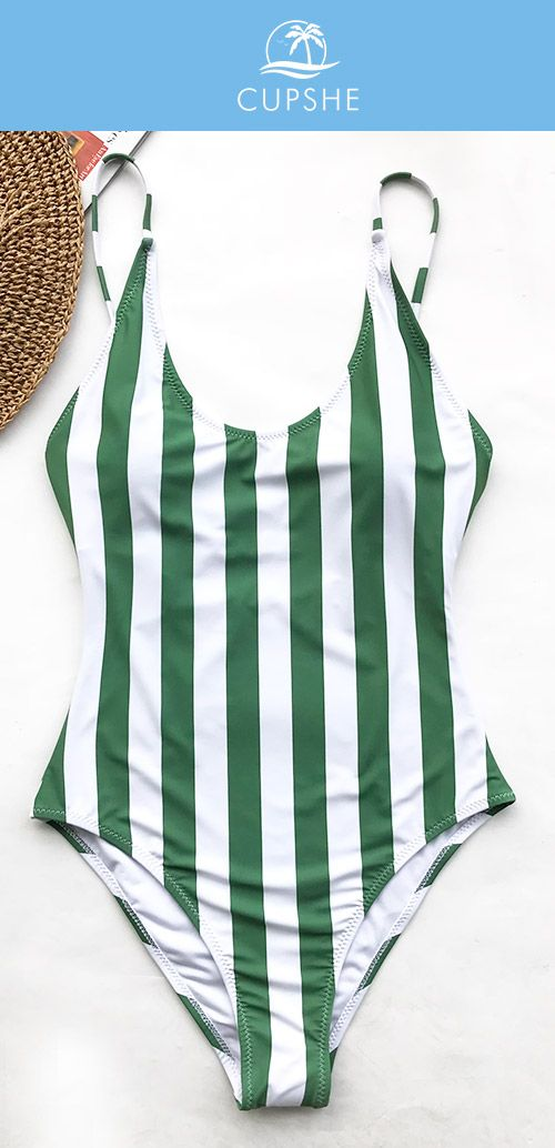 CLASSIC STRIPE SWIMSUITS! Show you the most trendy style of beach fashion! Cupshe Beauty Of Nature Stripe One-piece Swimsuit features stripe design! Enjoy a better vacation! Free shipping~