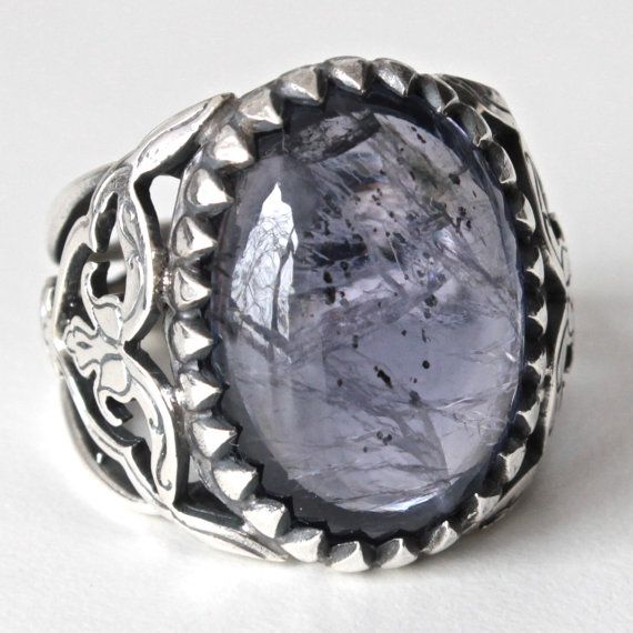 Sterling Silver Unique Handmade Ring for Men by KaraJewelsTurkey, $144.00