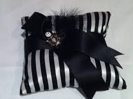 Nightmare Before Christmas wedding theme ring pillow