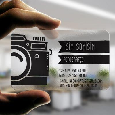 Şeffaf Fotoğrafçı Kartvizit Tasarımı