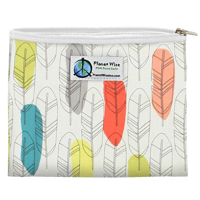 PlanetWise Zipper Sandwich Bag in Quill.