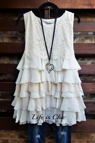 Won my heart ruffled lace dress in beige-beige