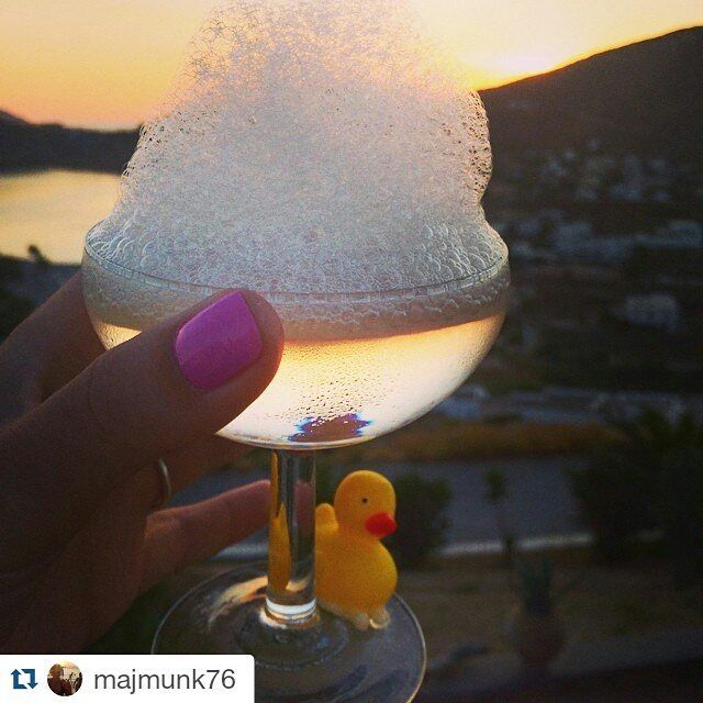 #Repost @majmunk76 ・・・ Giving new meaning to the word #bubbly!  #grandmasrestaurant #restaurant #liostasi #ios #sunset #greece #iosgreece https://www.instagram.com/grandmasrestaurant/