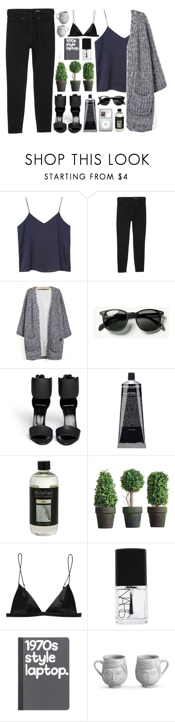 """IM SO FANCY"" by smoothpeanutbutter ❤ liked on Polyvore featuring Monki, Waverly, Pierre Hardy, Grown Alchemist, Millefiori, T By Alexander Wang, NARS Cosmetics, Jonathan Adler and Topshop"