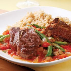 10 best arabic food images on pinterest arabian food arabic food arabic food recipes lamb chops with lebanese green beans recipe forumfinder Image collections
