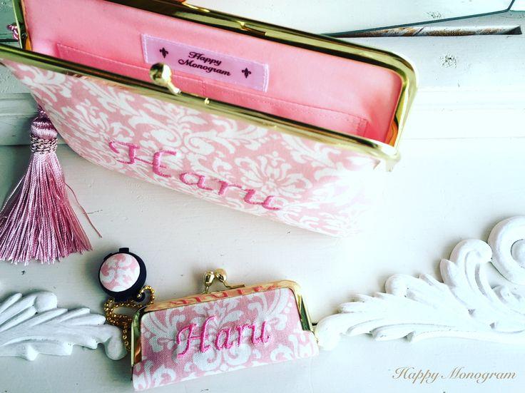 がま口通帳ケース&がま口印鑑ケース #ハッピーモノグラム #がま口 #happymonogram #handmade #gift #order
