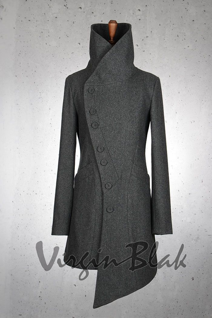 Virgin Blak want this in the black. Outer :: Coats :: S Curve Button Coat 6XM -