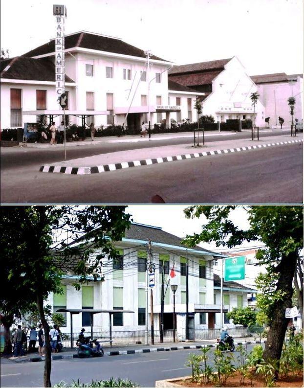 Bank of America, jl Kunir no 9, Jakarta, 1980an,., jl Kunir no 9, Jakarta, 2015