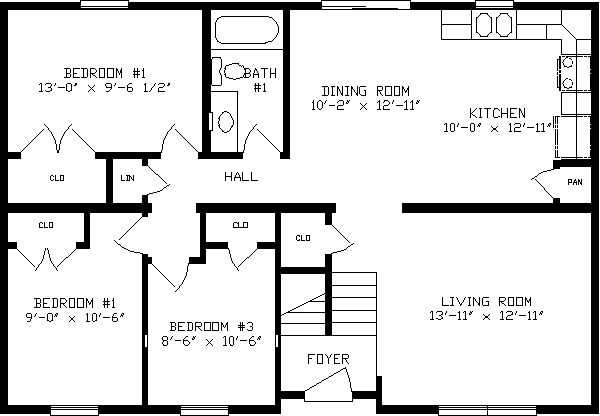 1100 Sq Ft House Plans Apex Homes Modular Home Floor