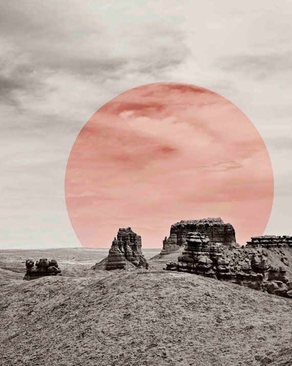 This modern desert print with a pop of color is made from my original photograph I took while on a trip in Southern Utah. It will add a modern touch to