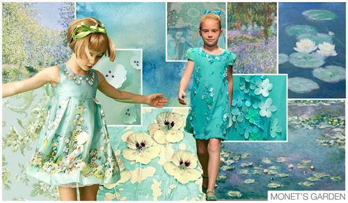 Top Trend Themes, Children's Market, S/S 2015, MONET'S GARDEN