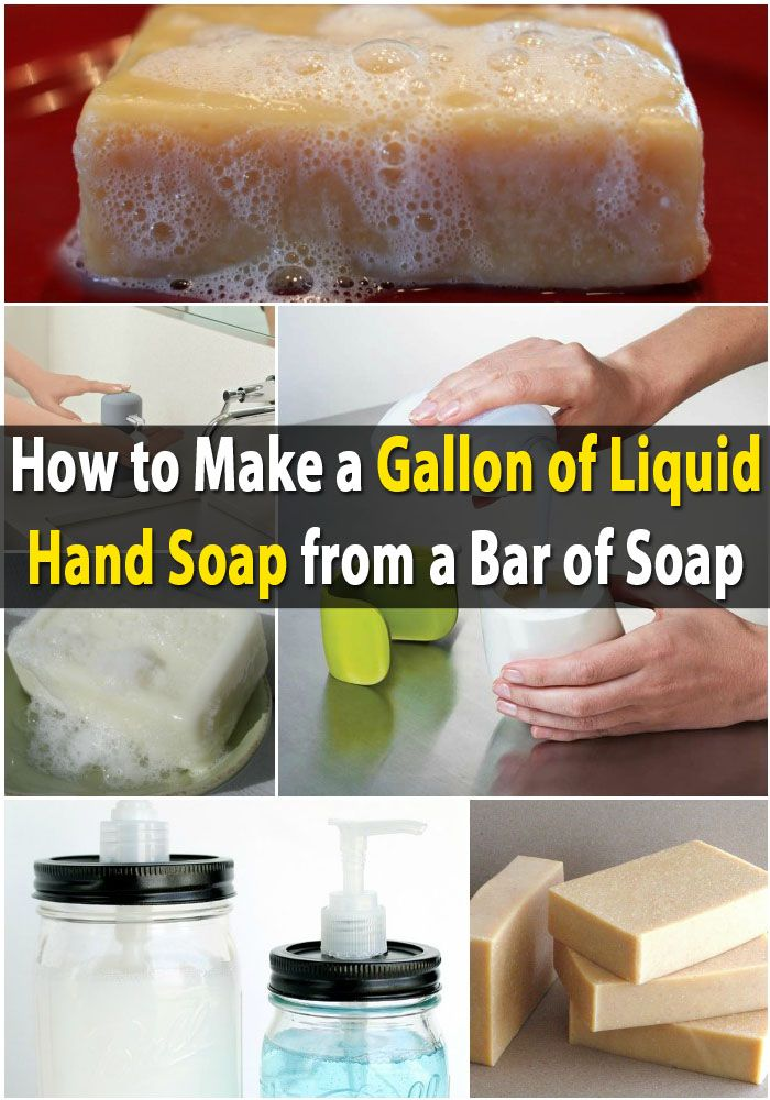 Money Saving DIY – Make a Gallon of Liquid Hand Soap from a Bar of Soap