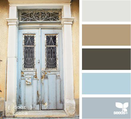 door tonesColors Pallets, Colors Combos, Design Seeds, Blue Doors, Bedrooms Colors, Doors Tone, Colors Palettes, Colors Schemes, Painting Colors
