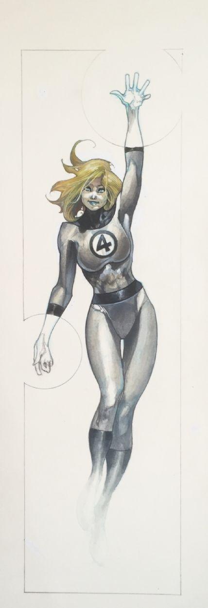 SImone Bianchi - The Invisible Woman Comic Art