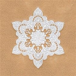 Victoria Snowflake embroidery design from embroiderydesigns.com