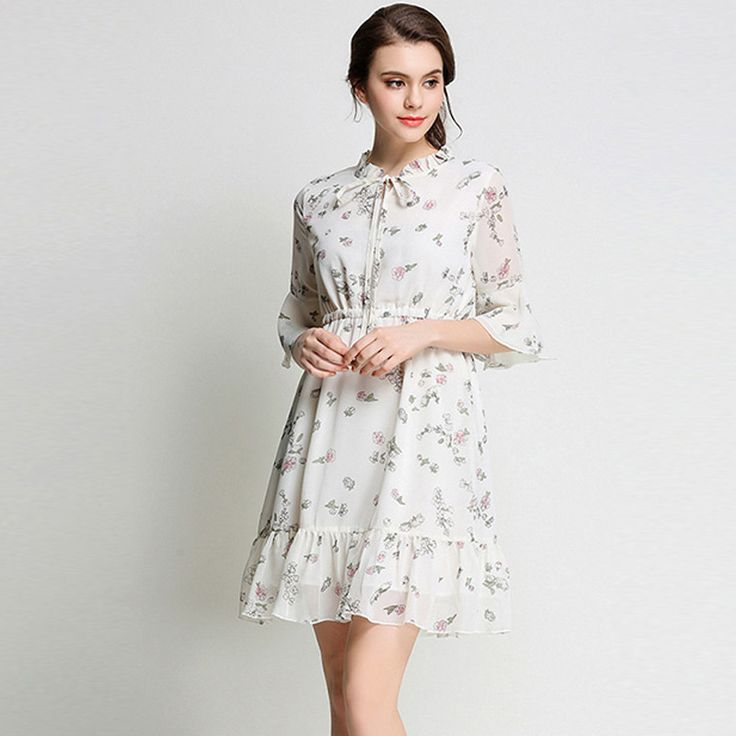 New Ruffles Print Chiffon Dress Female Summer Dress 2017 Vestidos Ukraine Women Beach Dress Dames Jurken Zomer Jurk 660950 //Price: $34.99 & FREE Shipping //     #hashtag1