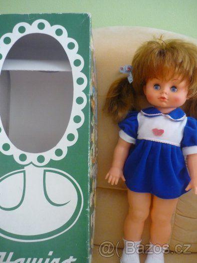 Starožitná panenka technoplast, výška 40cm, Hamiro 50cm - 1
