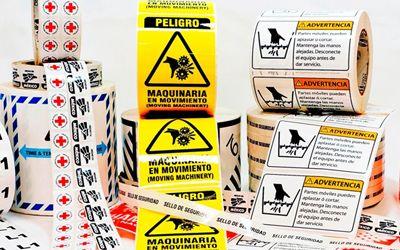 ETIQUETAS DE SEGURIDAD  Son un tipo especial de etiquetas, estas ayudan a saber si su producto ha sufrido alguna violación o para brindarles a sus clientes la seguridad de que sus productos son originales y no han sido alterados de ninguna forma.