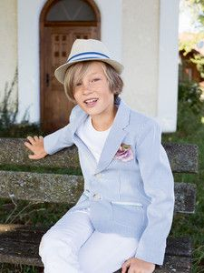 burda style: Kinder - Jungen - Anzüge & festliche Mode - Sakko - aufgesetzte Taschen