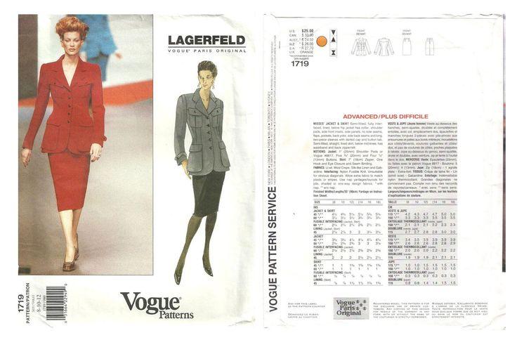 Vogue pattern 1719 by Karl Lagerfeld