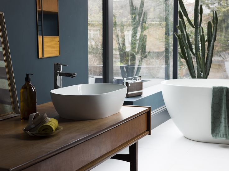 Suited to modern bathrooms, this basin sits perfectly in contemporary interiors - Formoso ClearStone Basin from Clearwater Baths. http://www.clearwaterbaths.com/Products/ProductDetail?prodId=96017&name=Formoso%20basin