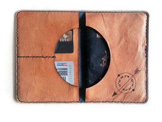 Porta Pasaporte para pasaportes, tarjetas, papeles y billetes (Color adentro: Crudo)