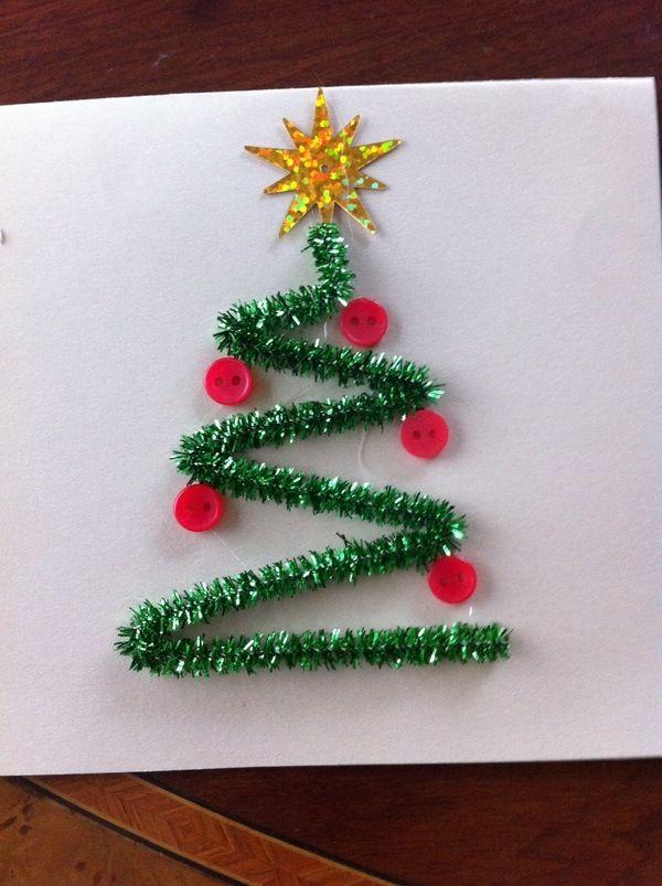 M s de 15 ideas fant sticas sobre tarjetas de felicitaci n - Decoracion navidad infantil manualidades ...