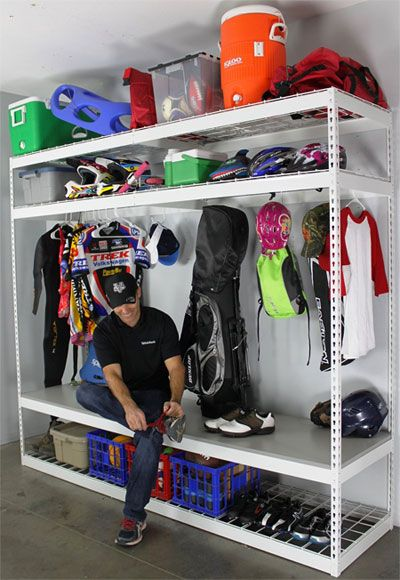 Garage Shelving Rack for Sports Equipment                                                                                                                                                                                 More