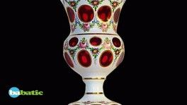 Vase Médicis en cristal de Bohème ov