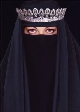Tiara atop burka