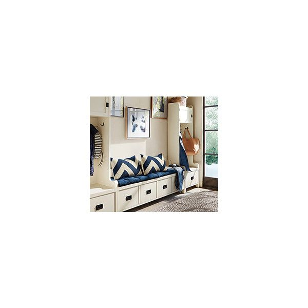 Pottery Barn Sutton Closet Wide Shelf And Tall Tower Wall Set ($1,699) ❤ liked on Polyvore featuring home, furniture, storage & shelves, white baskets, pull-out shelves, white shelving, tower and pottery barn furniture